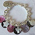 Fête des Mères (bracelet personnalisé sur chaîne plaqué argent)