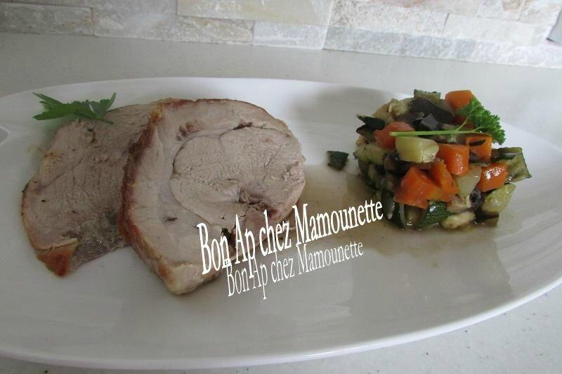 légumes naturels au rôti de porc fermier 015