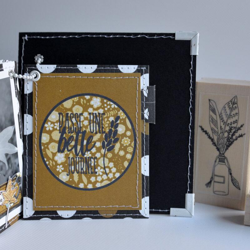 mini carré la vie est tellement belle - collection Esprit Folklore- octobre18- devant page#15-claire- scrapathome- Chou&Flowers