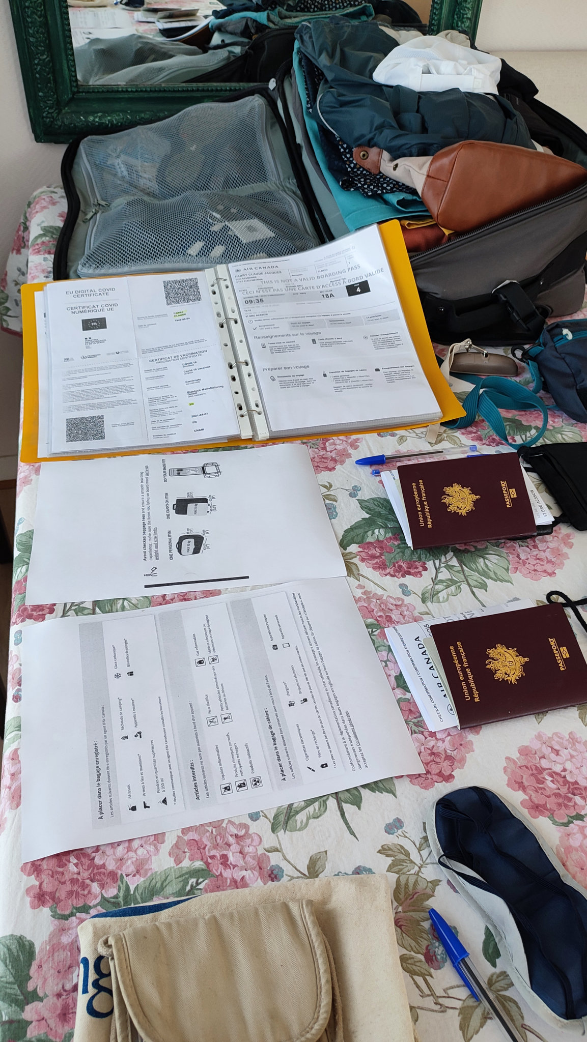 bagages, documents