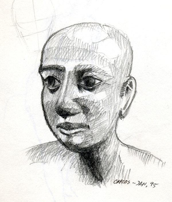 Portrait - Statue egyptienne en bois d'acacia