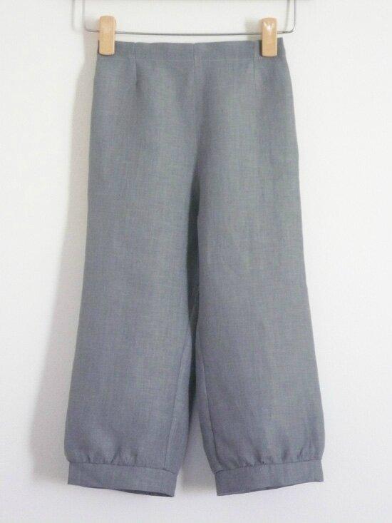 pantacourt en lin gris - 6/7 ans