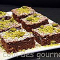 Moelleux chocolat au lait / pistaches