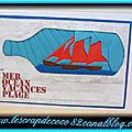 Carte iris folding bateau dans une bouteille - cepourtoa de l'été (pour sylvie)