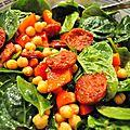 Salade de pois chiches au chorizo
