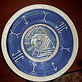 Assiette; motifs symboles berbères