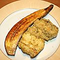 Filets de crocodile au curry vert et banane plantain