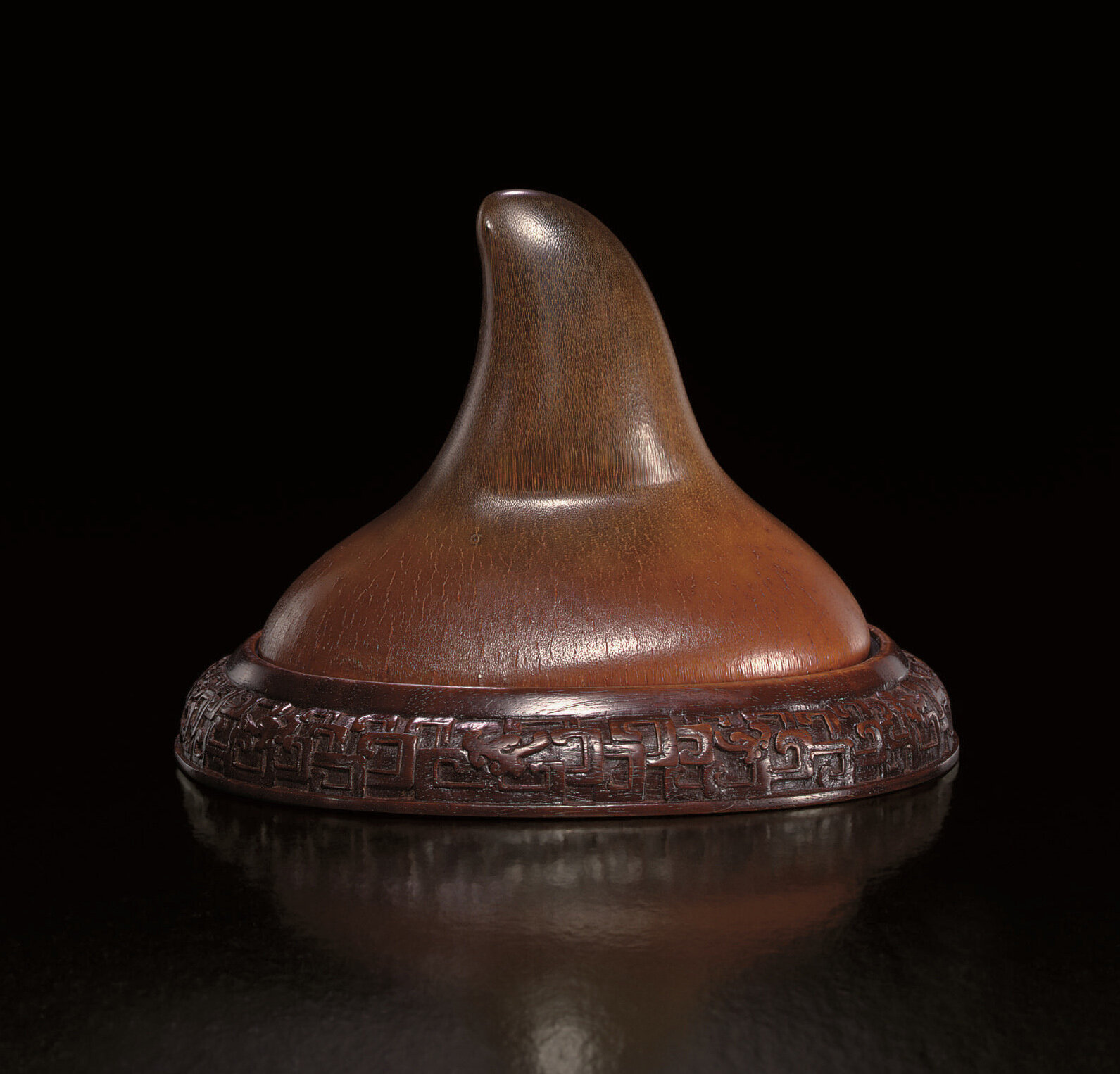 An unusual undecorated rhinoceros horn libation cup, naihebei , Ming dynasty, 17th century