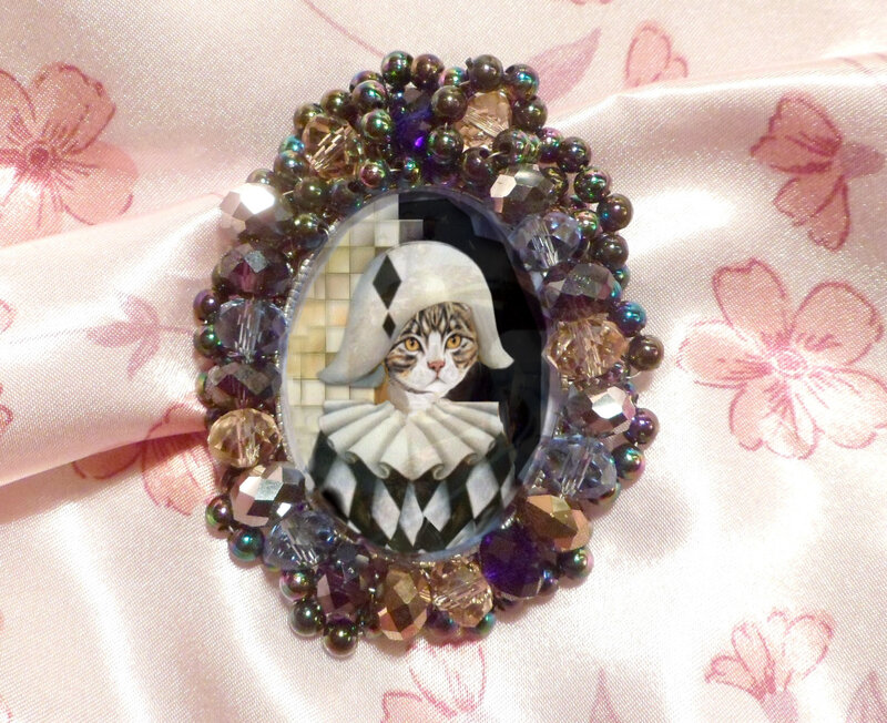broche chat colombine