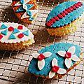 Minis gâteaux aux amandes et fromage blanc, inspiration carnaval