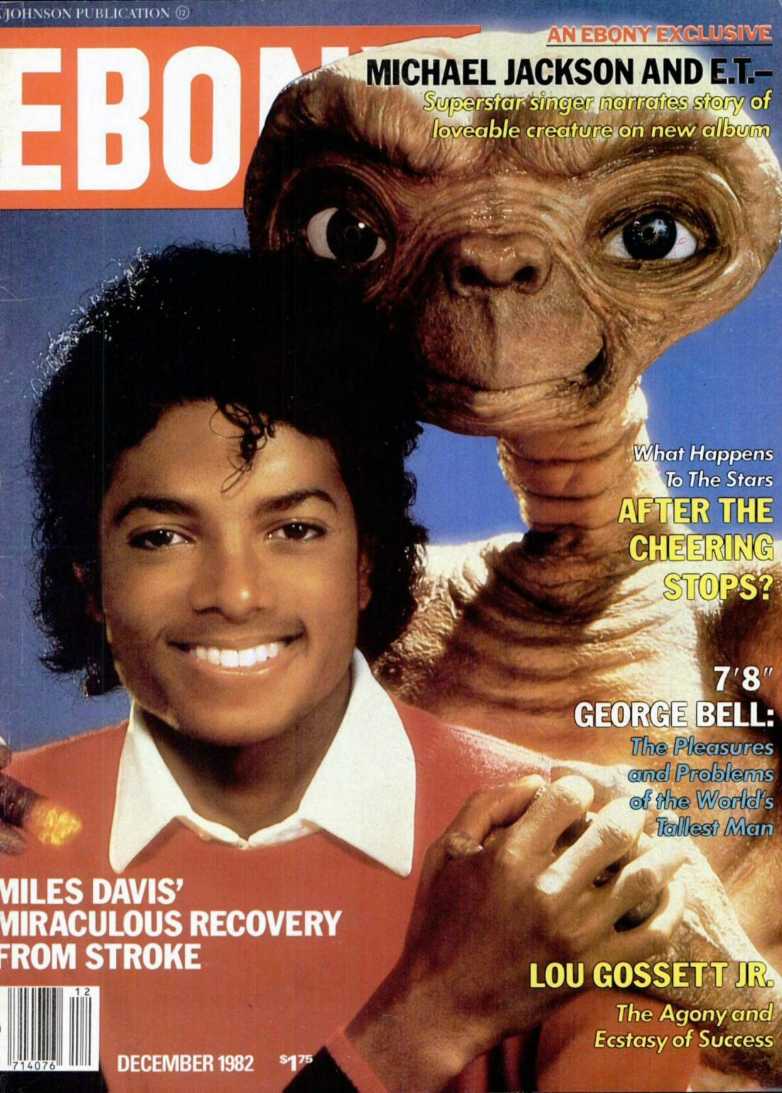 Michael Jackson And E T Ebony D 233 Cembre 1982 On