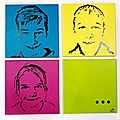 Portraits style andy warhol