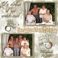 Mise en place de l'album des 60 ans de mariage ....