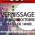 Boutique a.r.t. vernissage le 6 octobre !