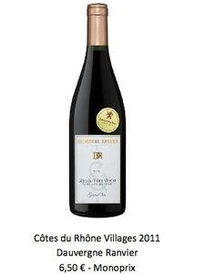 Côtes du Rhône Villages 2011 Dauvergne Ranvier