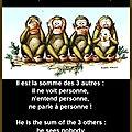 les 4 singes