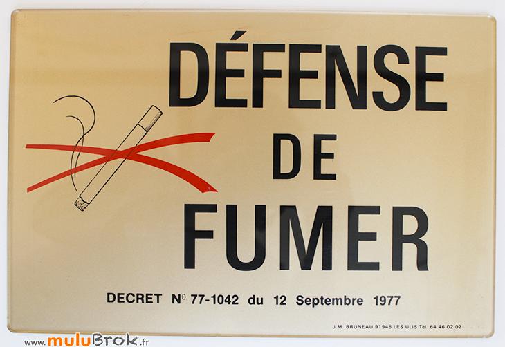 DEFENSE-DE-FUMER-Plaque-1-muluBrok-Vintage