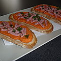 Tartine orange !