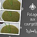 Potage aux courgettes