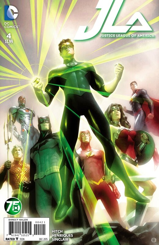 justice league of america 4 green lantern variant