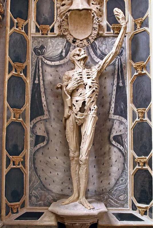 le transi de rené de chalon, par ligier richier - eglise saint etienne de bar le duc