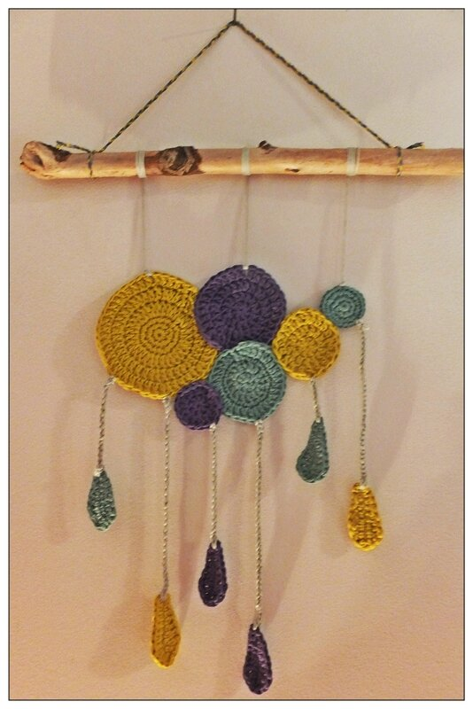 crochet suspension dream catcher natura dmc