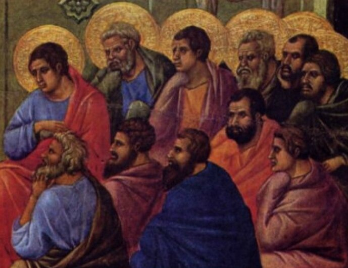 Les apôtres et l'absence de Jésus