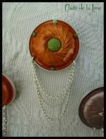 Broche nespresso roue orange