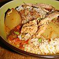 Gà hầm sốt moutarde ou poulet moutarde mijoté (vietnam)
