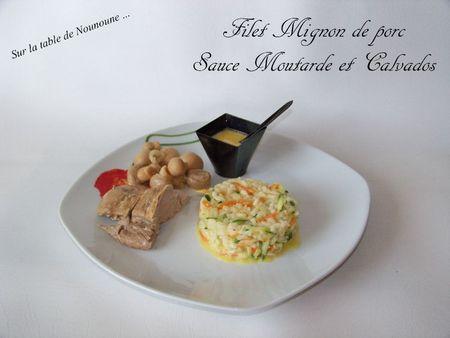 Filet Mignon de porc sauce moutard ete calvados 1