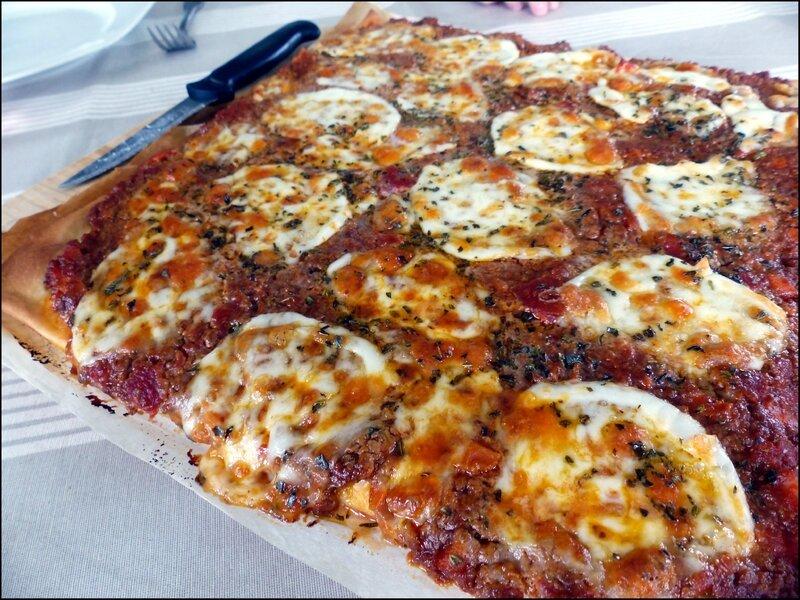 pizza bolognaise cuite