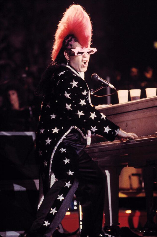 Elton John-Mohawk NEW YORK CITY, 1986