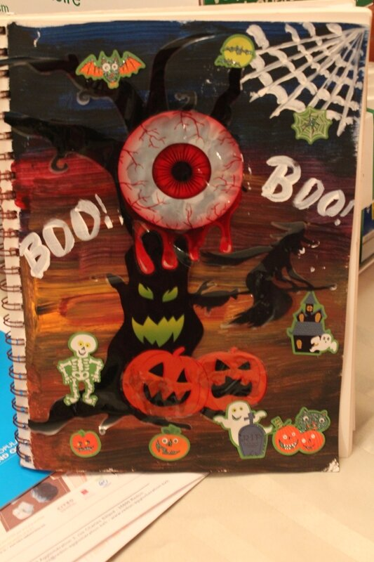 Octobre Halooween page journal d art