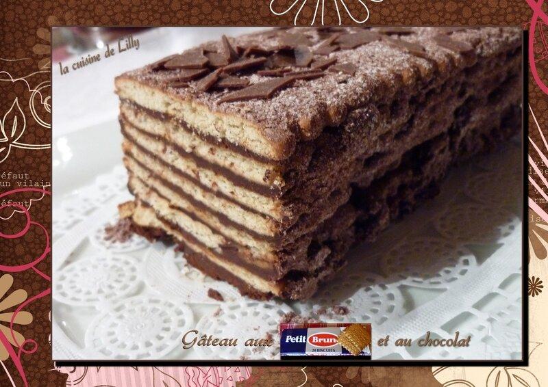 gâteau aux petits bruns et chocolat