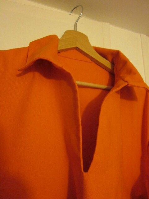 Vareuse ABEL (mixte) en toile de coton orange (3)