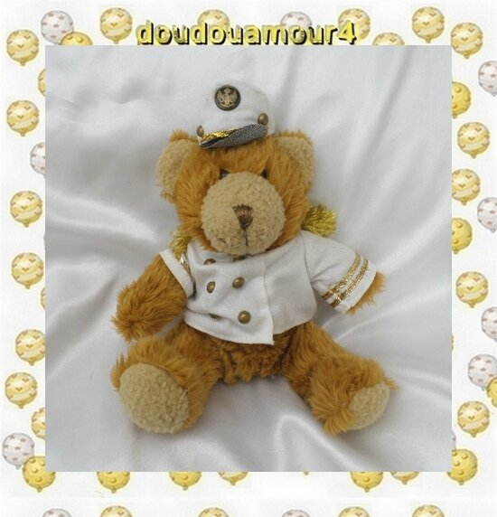 Peluche Doudou Ours Colin Le Capitaine Marin The Teddy Bear Collection
