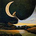 Assis sur sa lune