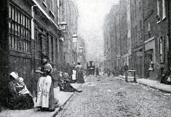 Dorset Street, 1902. Photo de Jack London