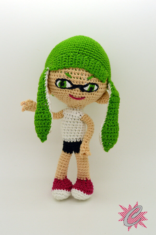 #Crochet : Amigurumi InkLing Girl - Splatoon