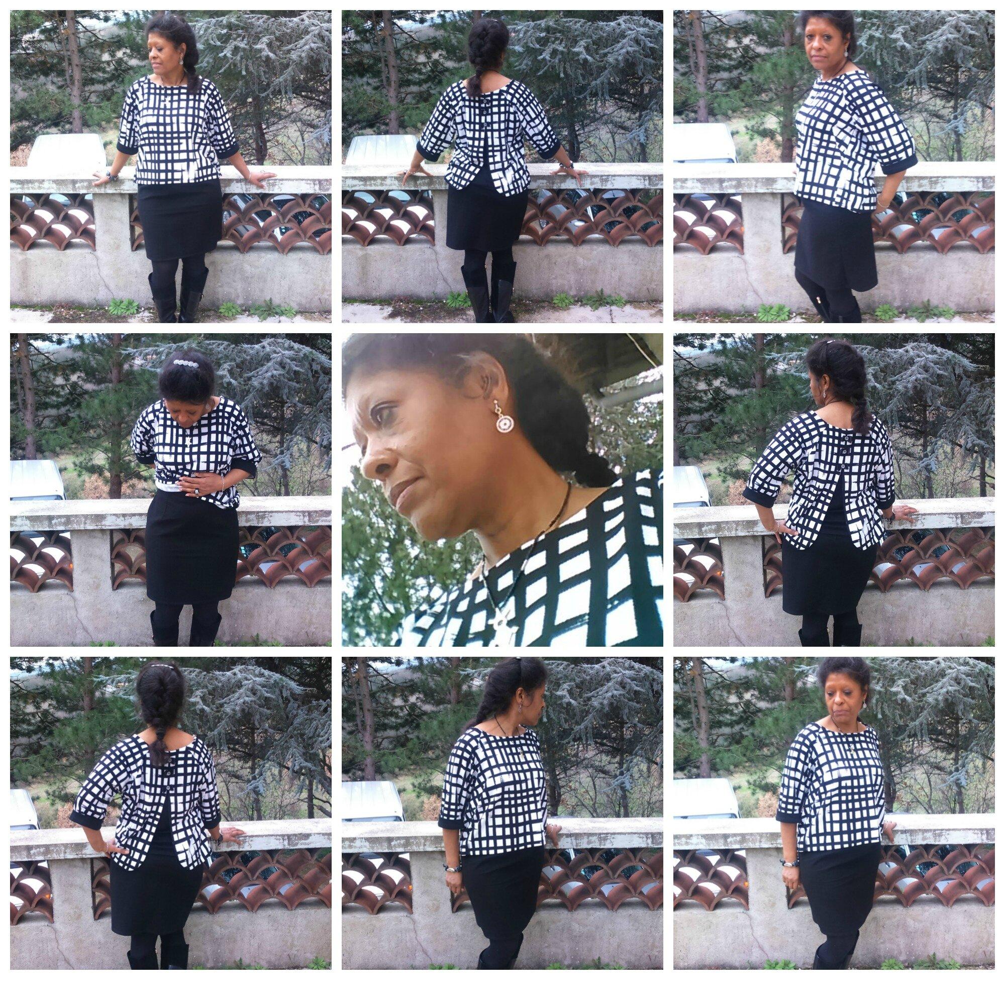 Nouveau top sixtis et jupe noire