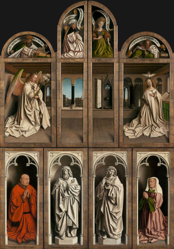 The-Ghent-Altarpiece-Closed