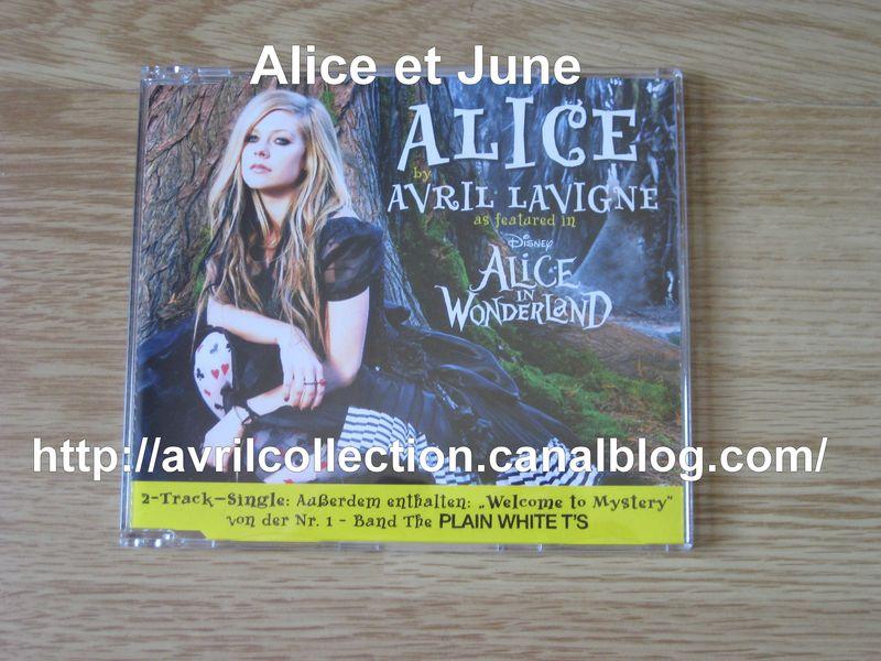 Maxi CD Alice/Alice in Wonderland-version allemande (2010)