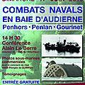 Conférence et exposition sur les combats navals en baie d'audierne - août 1944