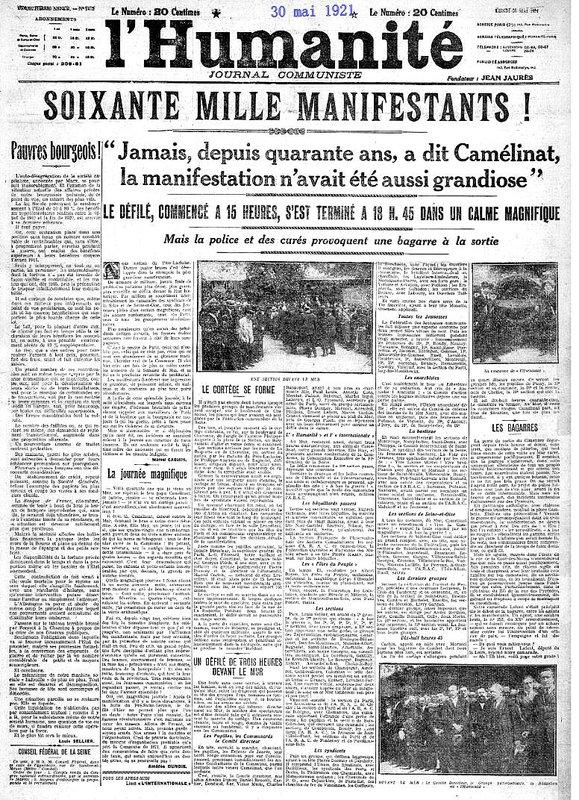 1921 30 mai l' huma