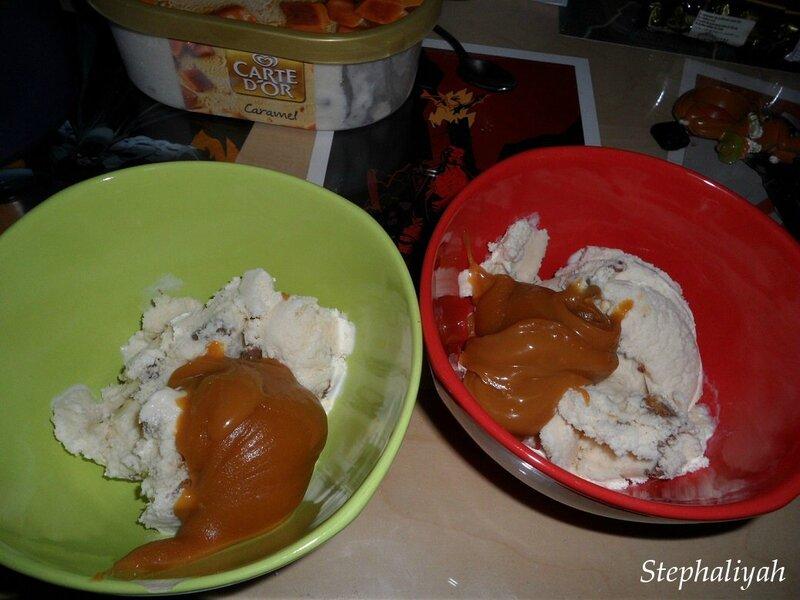 Glace aux daims et caramel au beurre salé -- 4
