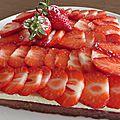 Sablé aux fraises