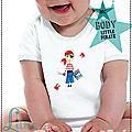 Body bébé Original - Cadeaux de naissance - Little Pirate - manches courtes - Thème Marin (3)