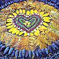 mon coeur étalé land art yurtao