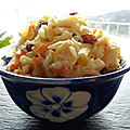 Coleslaw sucré-salé, panais,chou-rave,carotte,pomme et raisins secs