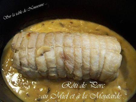 Rôti de porc au miel et à la moutarde 1